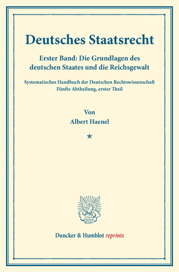 Cover Deutsches Staatsrecht