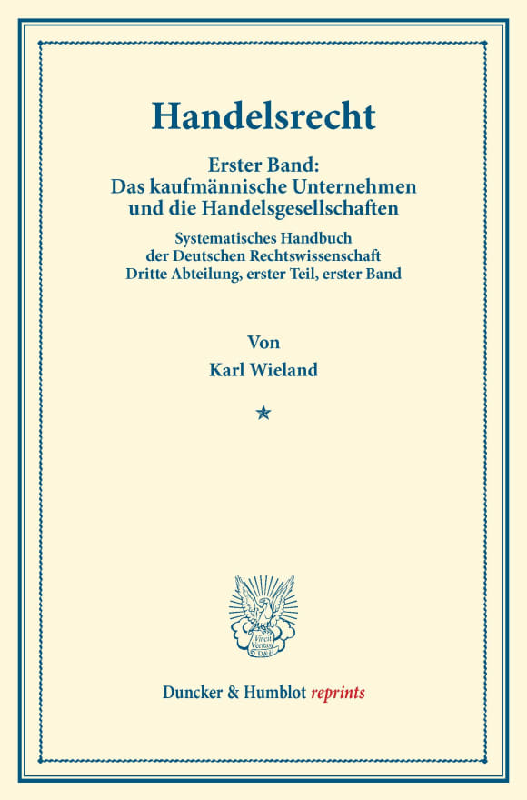 Cover Handelsrecht