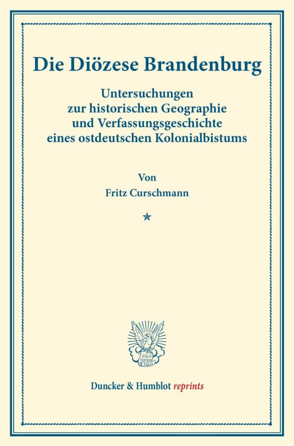 Cover Die Diözese Brandenburg