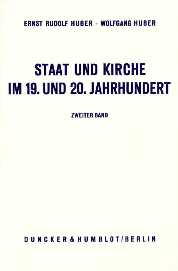 Cover Staat und Kirche im 19. und 20. Jahrhundert