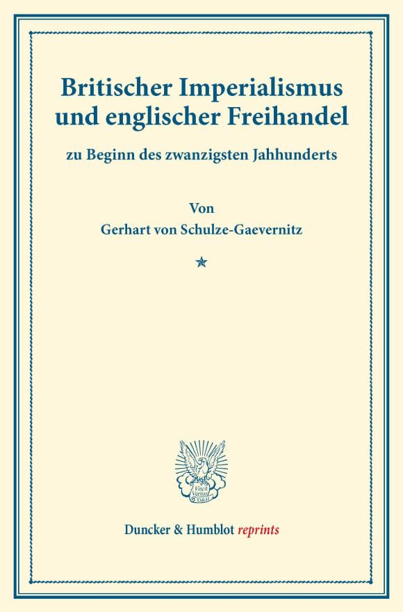 Cover Britischer Imperialismus und englischer Freihandel