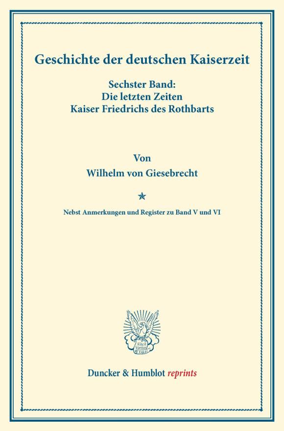 Cover Geschichte der deutschen Kaiserzeit