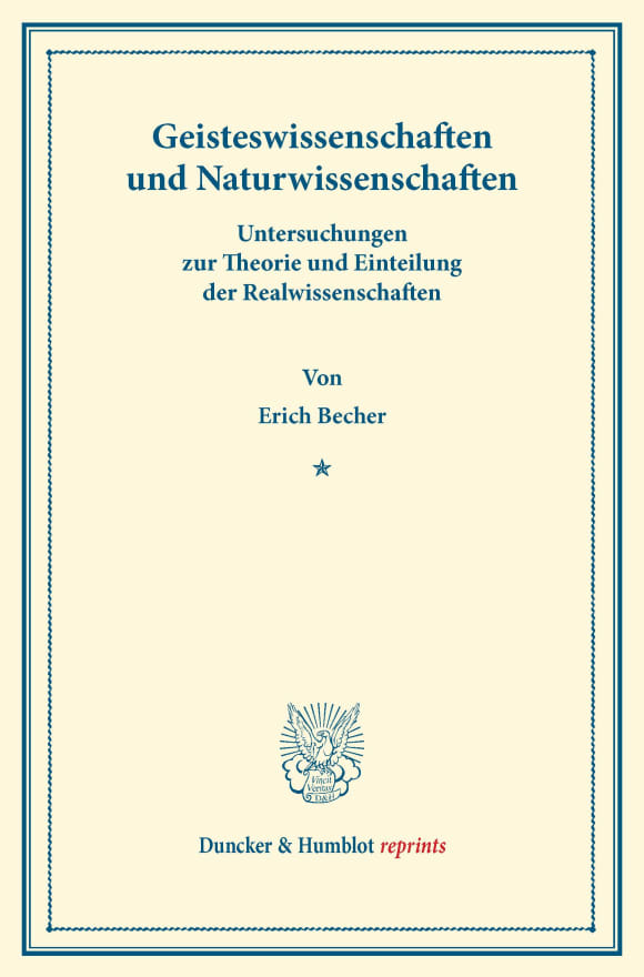 Cover Geisteswissenschaften und Naturwissenschaften