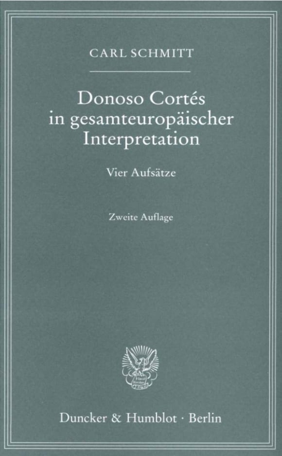 Cover Donoso Cortés in gesamteuropäischer Interpretation