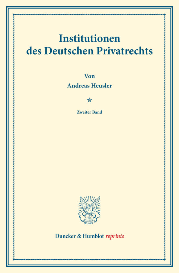 Cover Institutionen des Deutschen Privatrechts