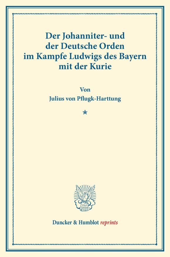 Cover Der Johanniter- und der Deutsche Orden