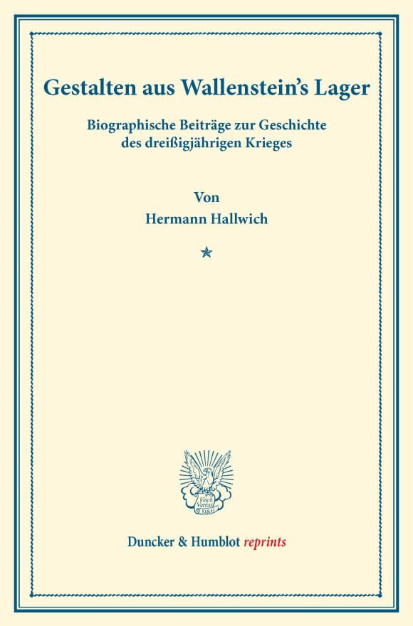 Cover Gestalten aus Wallenstein's Lager