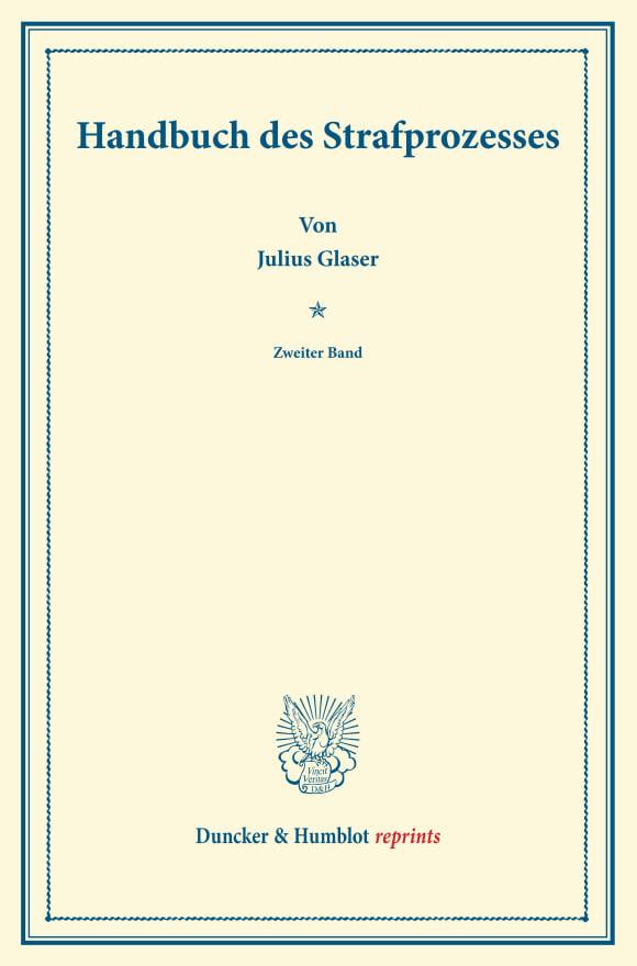 Cover Handbuch des Strafprozesses