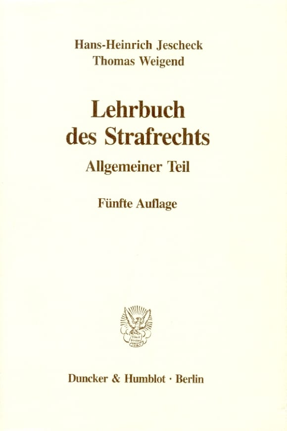 Cover Lehrbuch des Strafrechts