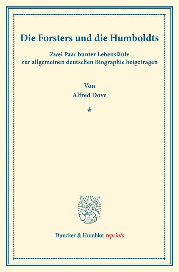 Cover Die Forsters und die Humboldts