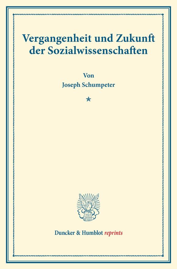 Cover Vergangenheit und Zukunft der Sozialwissenschaften