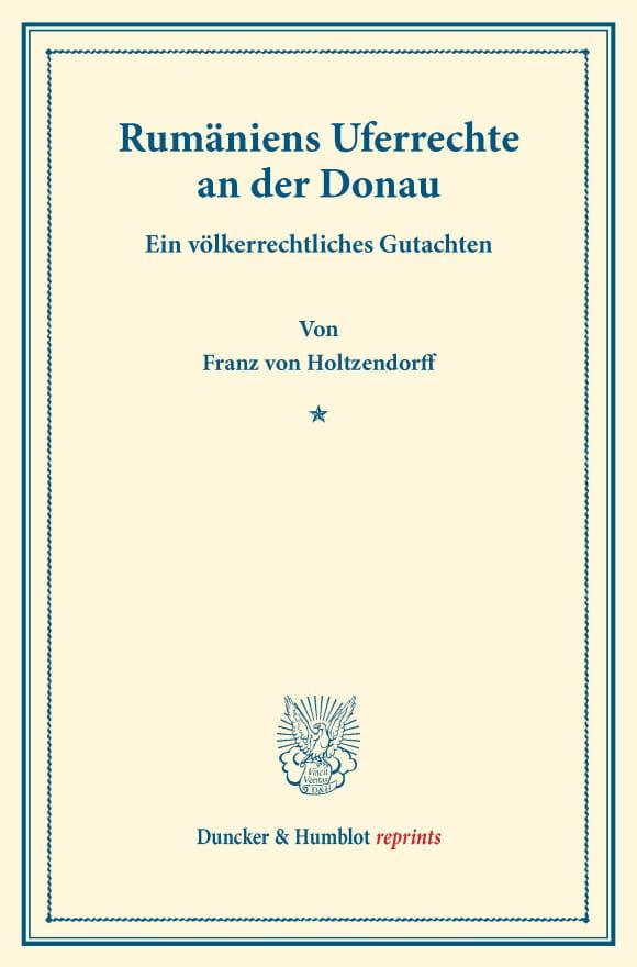 Cover Rumäniens Uferrechte an der Donau