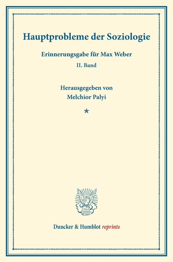 Cover Hauptprobleme der Soziologie