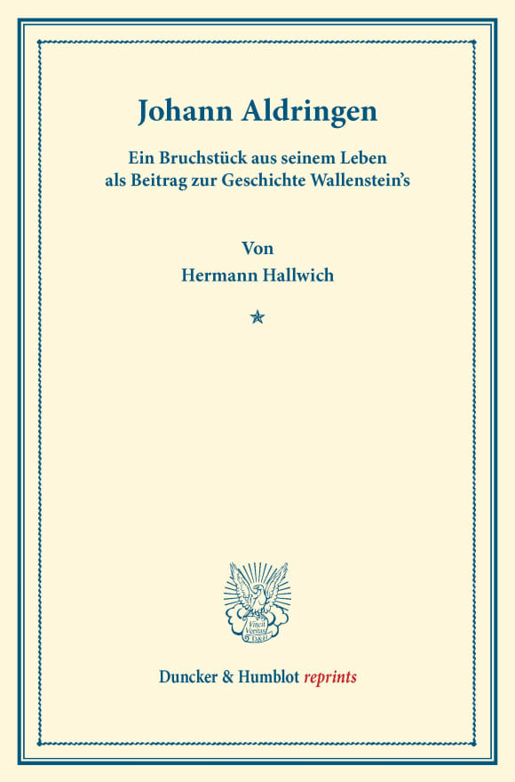 Cover Johann Aldringen