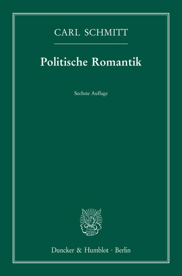 Cover Politische Romantik