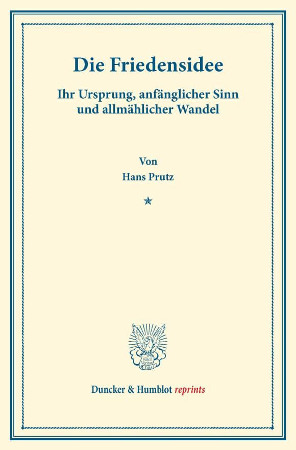 Cover Die Friedensidee