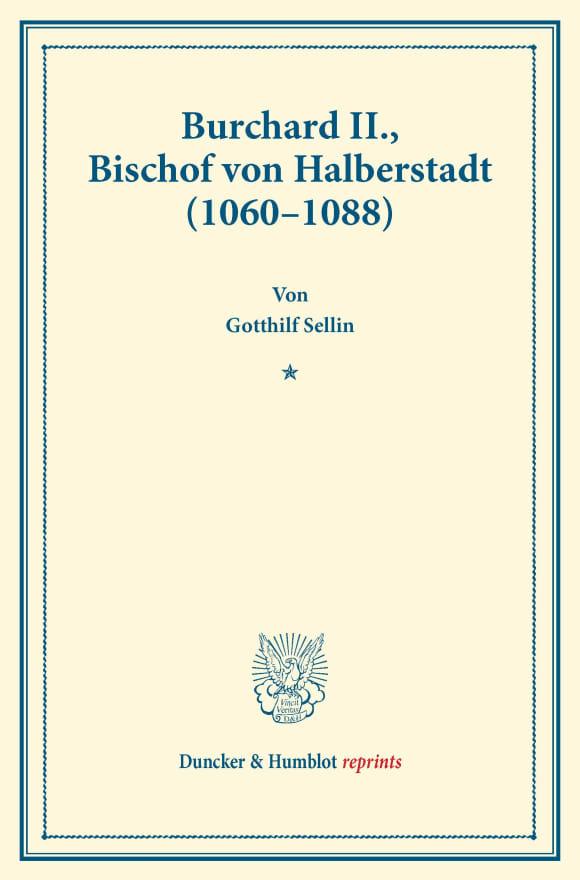 Cover Burchard II., Bischof von Halberstadt (1060–1088)