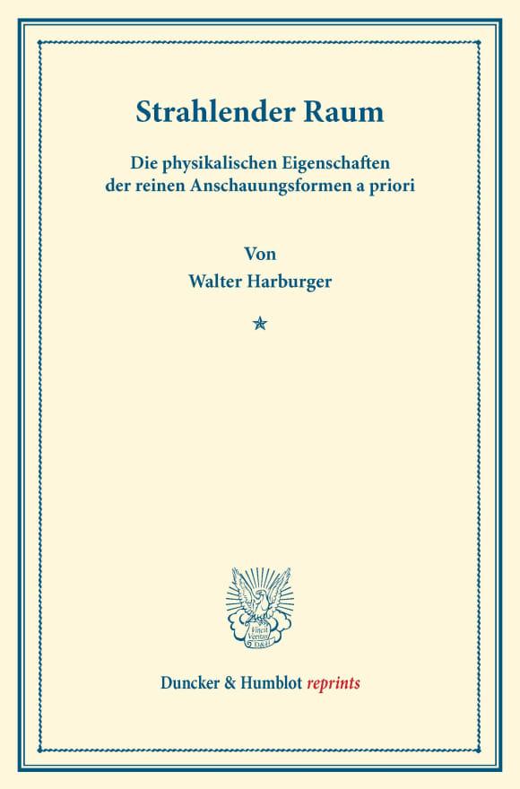 Cover Strahlender Raum