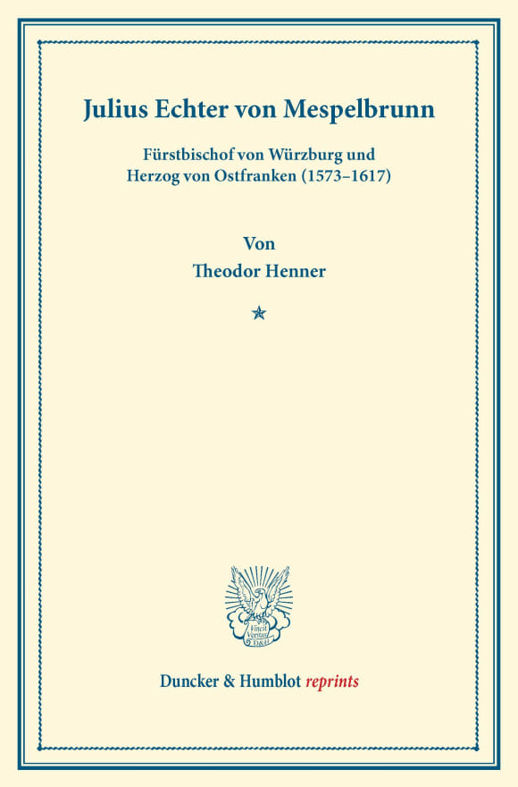Cover Julius Echter von Mespelbrunn