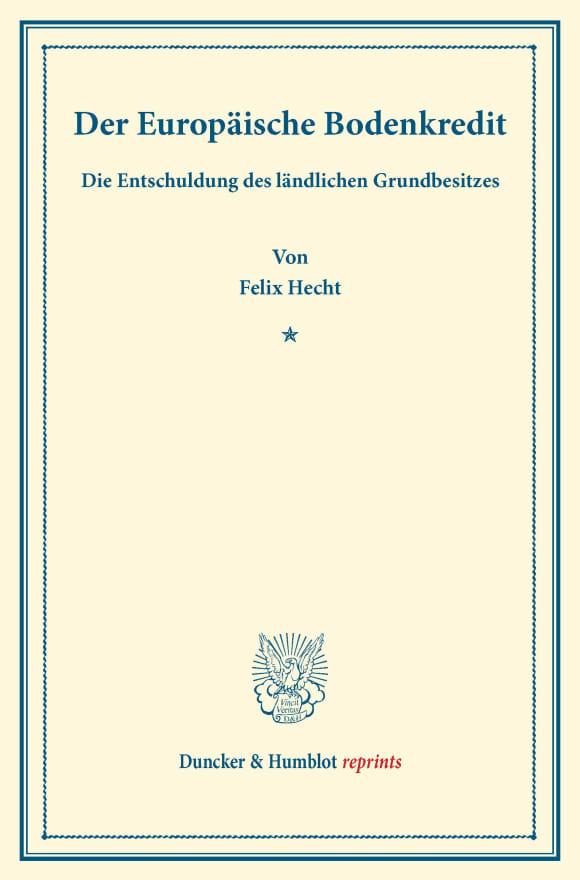 Cover Der Europäische Bodenkredit