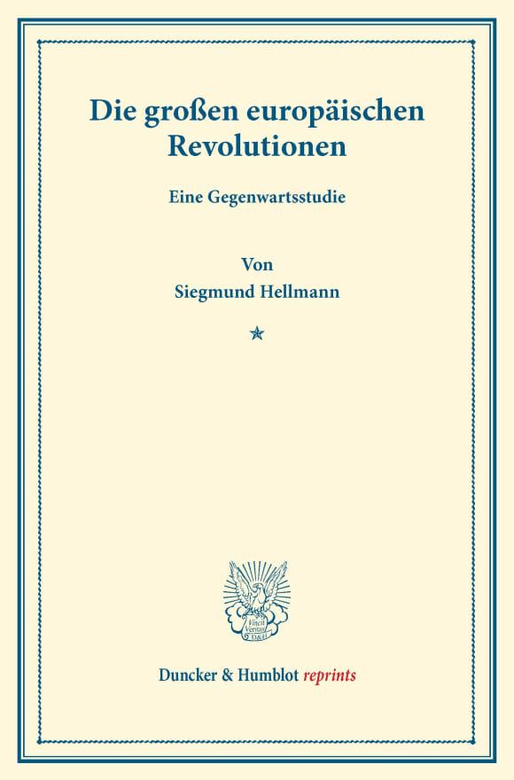 Cover Die großen europäischen Revolutionen