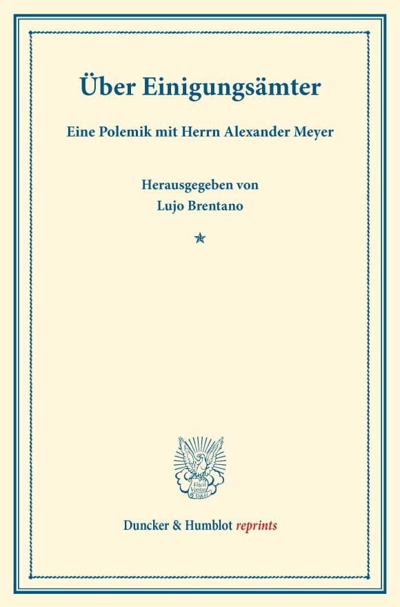 Cover Über Einigungsämter