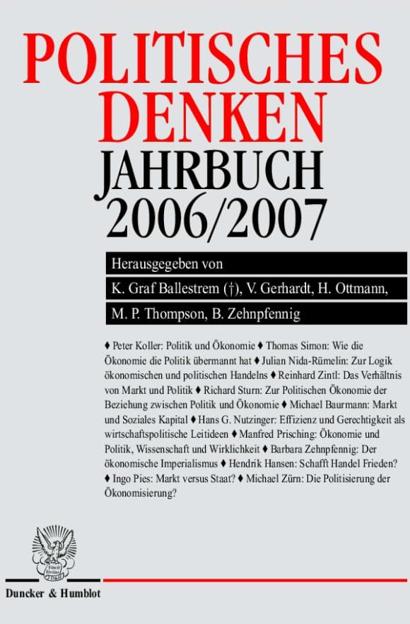 Cover Politisches Denken. Jahrbuch 2006/2007