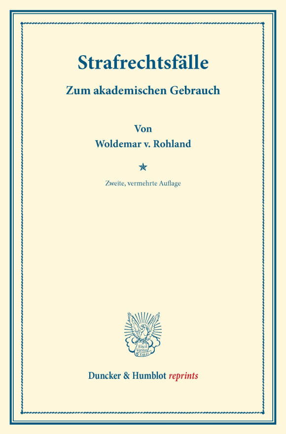 Cover Strafrechtsfälle