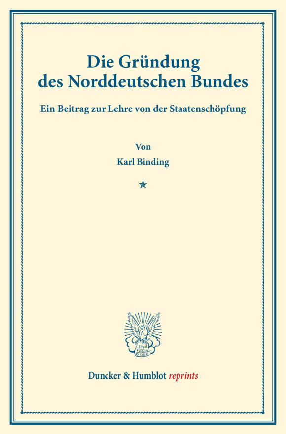 Cover Die Gründung des Norddeutschen Bundes