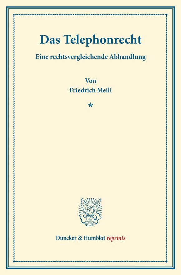 Cover Das Telephonrecht