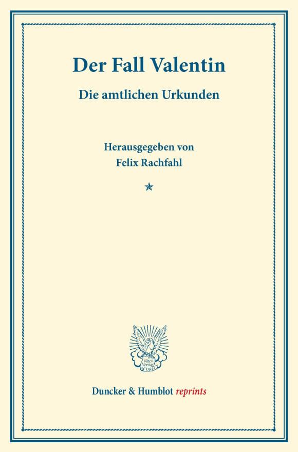 Cover Der Fall Valentin