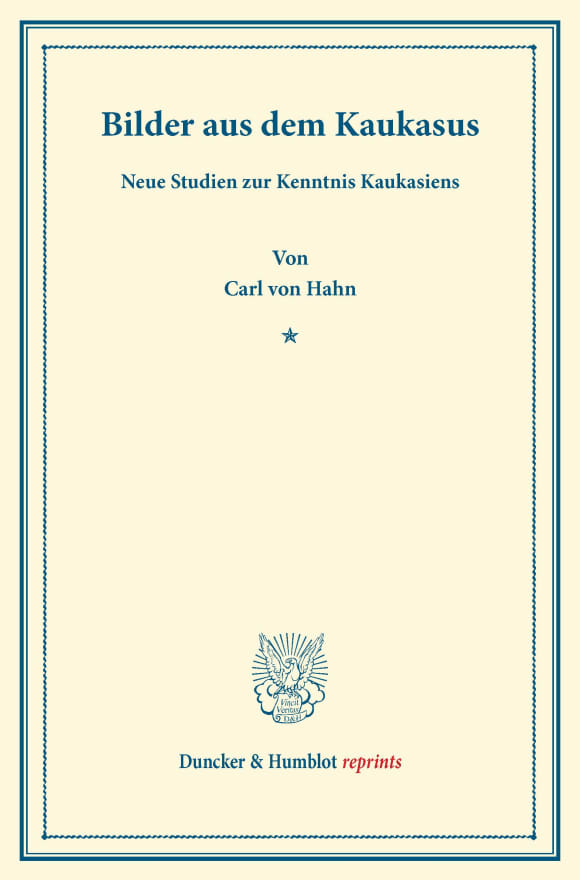 Cover Bilder aus dem Kaukasus
