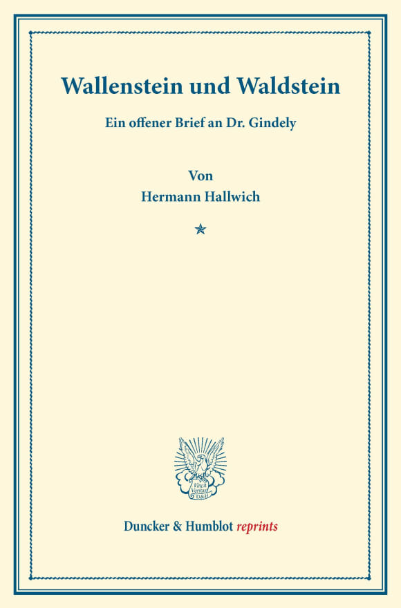 Cover Wallenstein und Waldstein