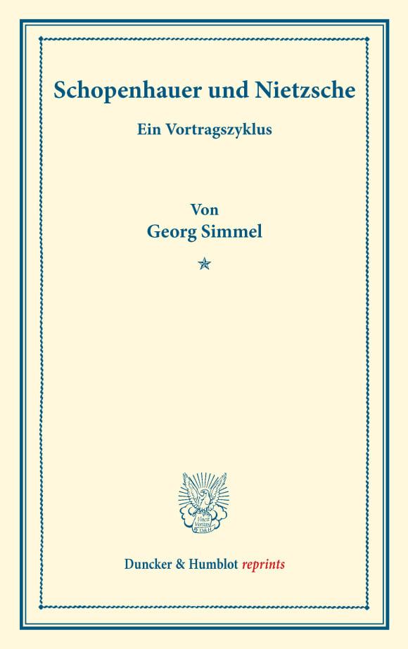 Cover Schopenhauer und Nietzsche
