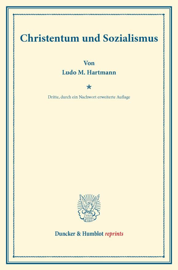 Cover Christentum und Sozialismus