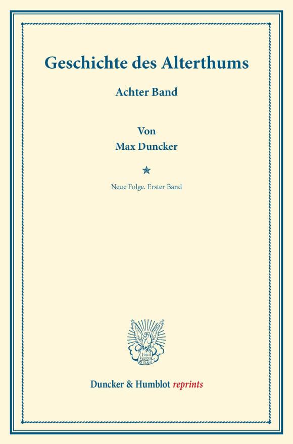 Cover Geschichte des Alterthums