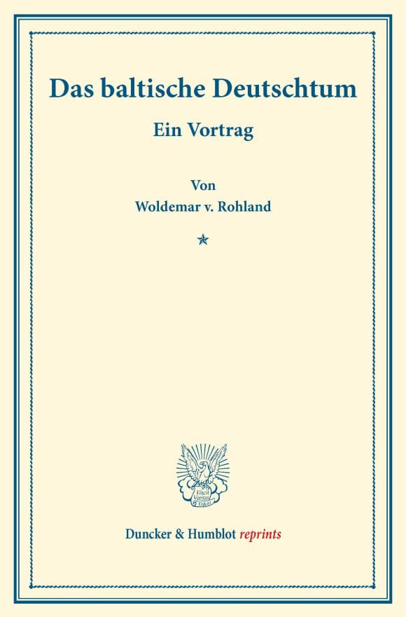 Cover Das baltische Deutschtum