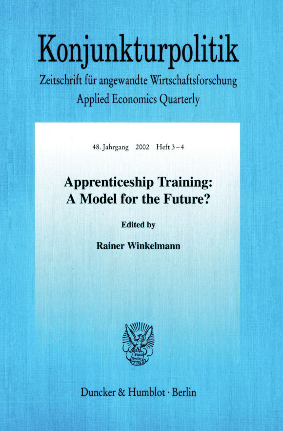 Cover Apprenticeship Training: A Model for the Future?