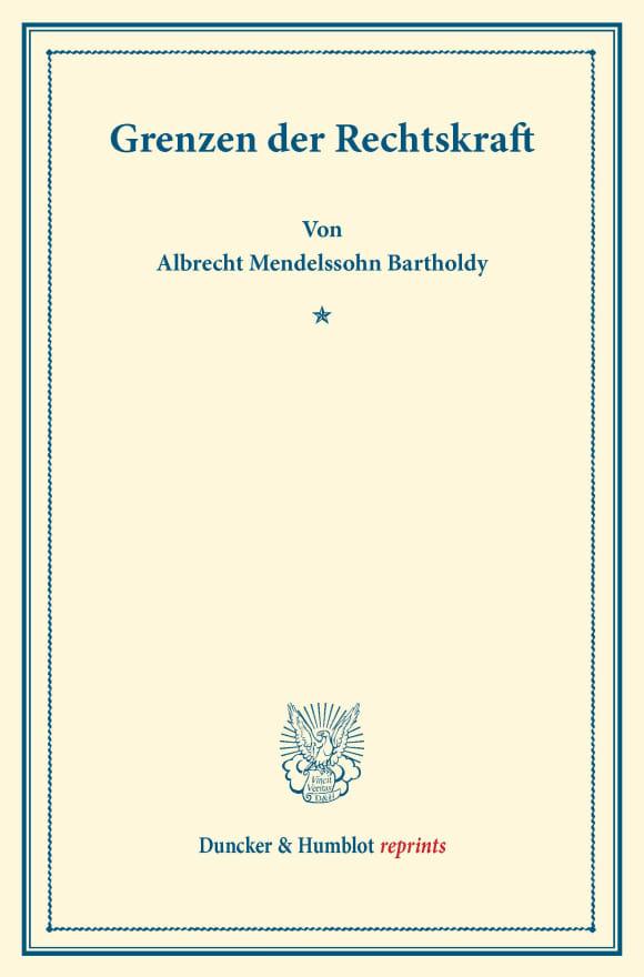 Cover Grenzen der Rechtskraft