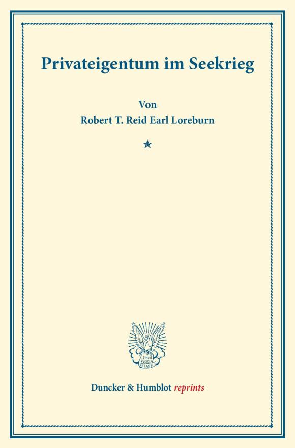 Cover Privateigentum im Seekrieg
