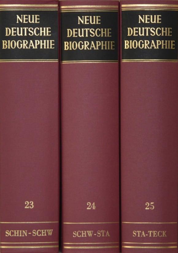 Cover Neue Deutsche Biographie, Hldr. (NDB-HLDR)