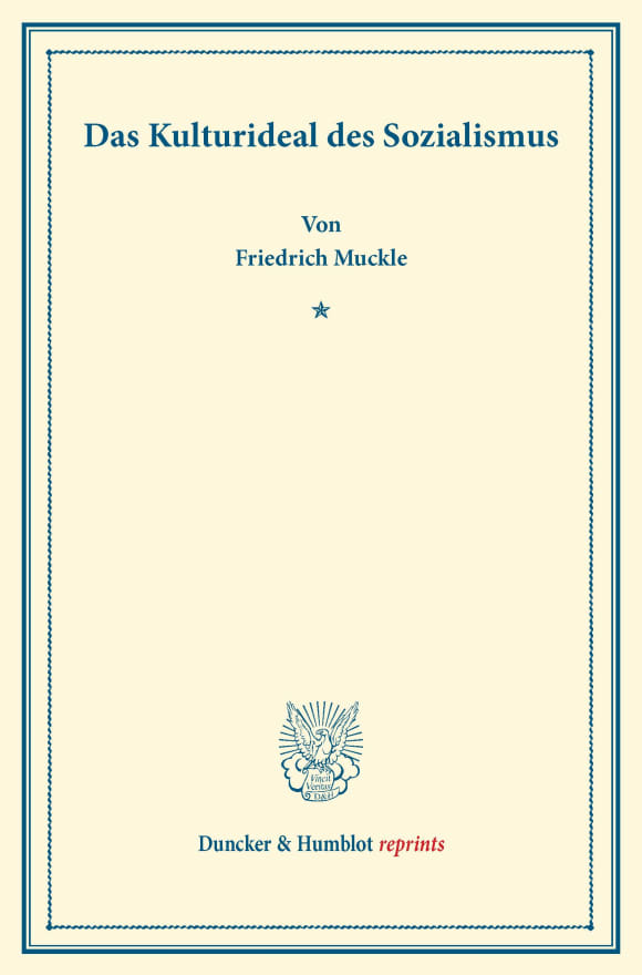 Cover Das Kulturideal des Sozialismus
