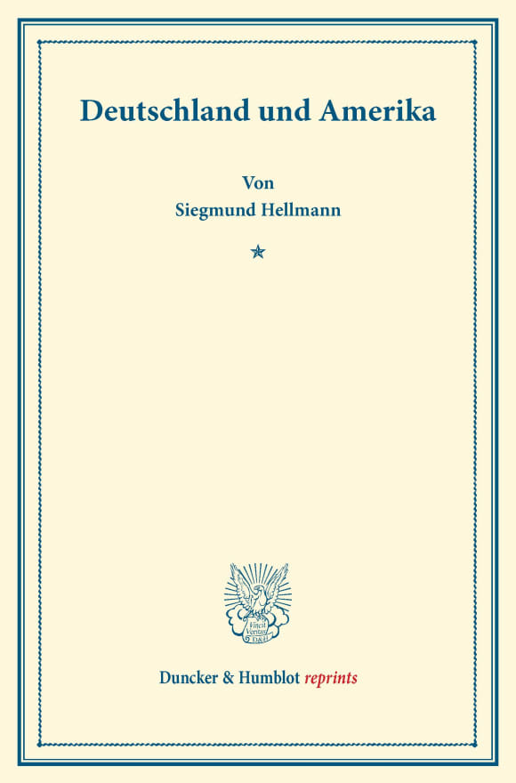 Cover Deutschland und Amerika