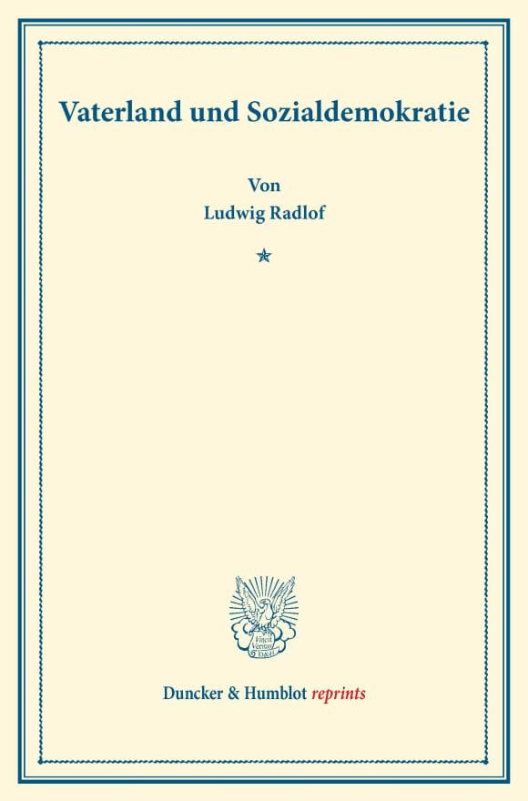 Cover Vaterland und Sozialdemokratie