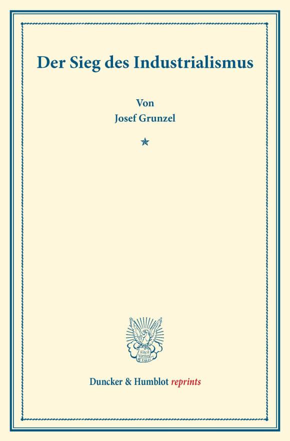 Cover Der Sieg des Industrialismus