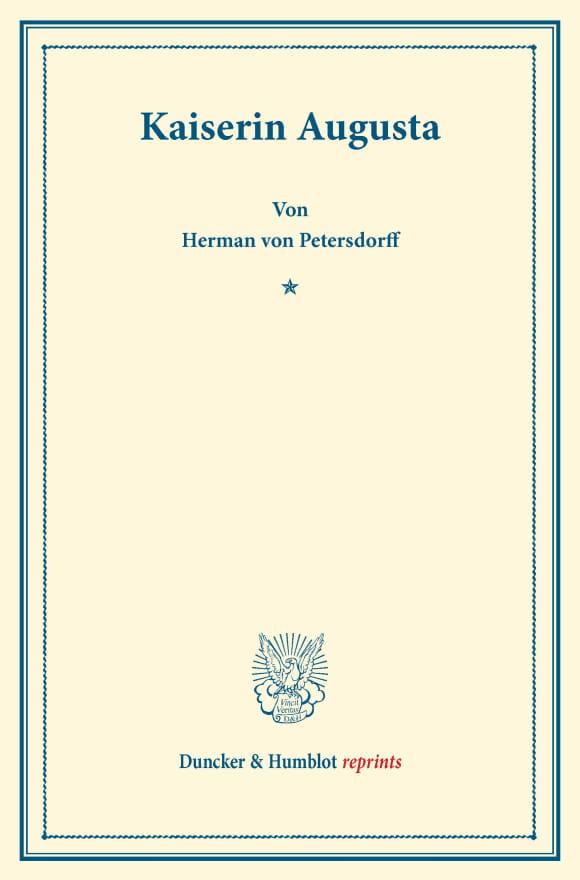 Cover Kaiserin Augusta