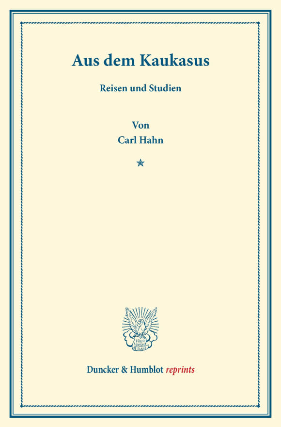 Cover Aus dem Kaukasus