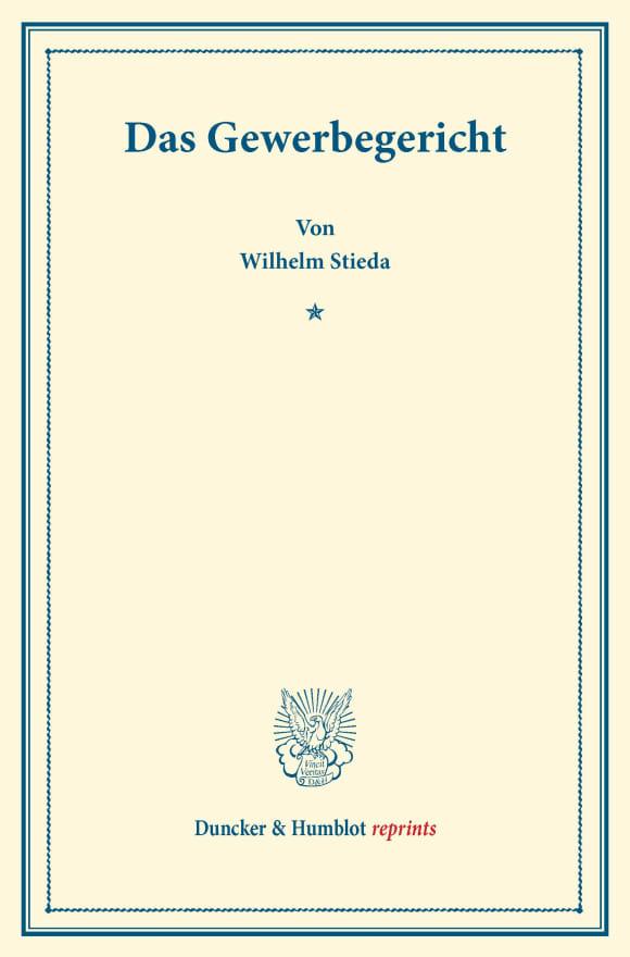 Cover Das Gewerbegericht