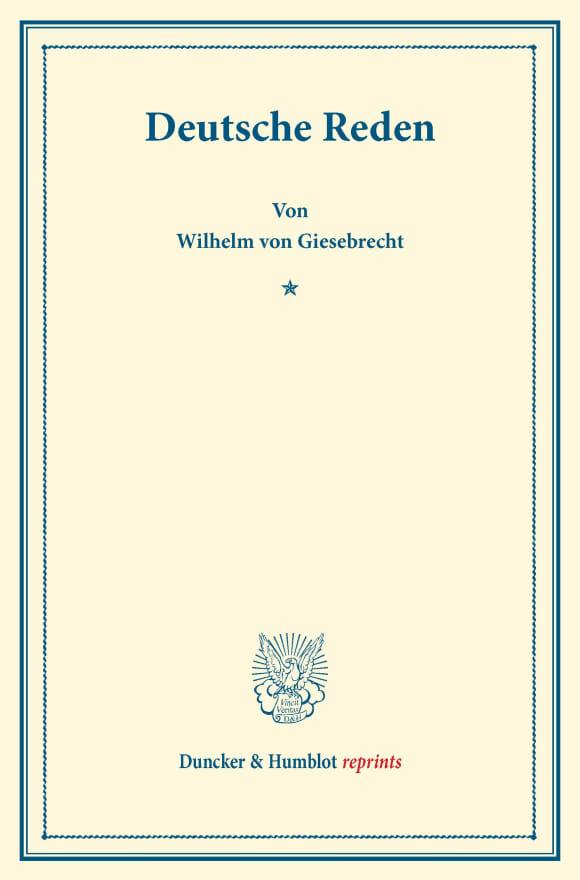 Cover Deutsche Reden