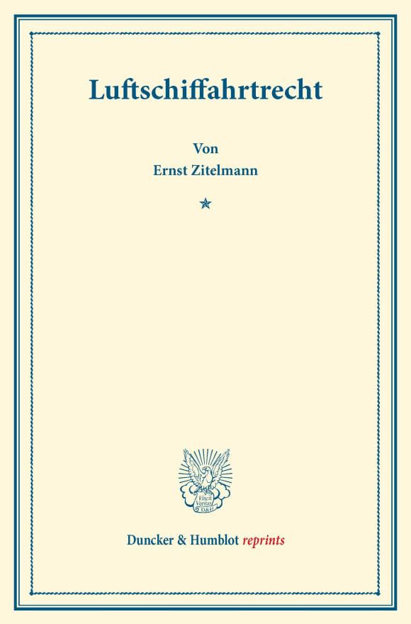Cover Luftschiffahrtrecht